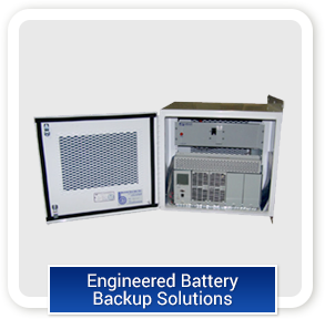 Engineered battery backup installation