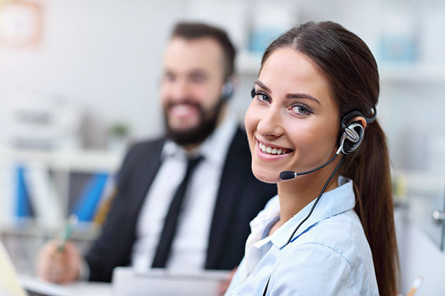Stock image - Call centre contact